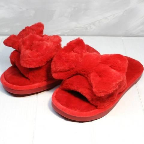 Домашние тапочки женские меховые. Красные тапочки женские открытые Yes Mile Red.