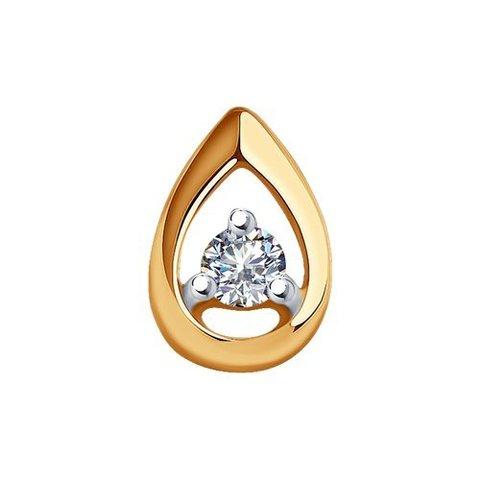1030801 - Подвеска-капля из золота с бриллиантом