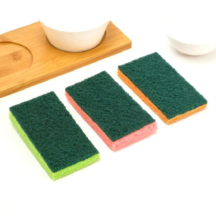Губка для мытья посуды 3 шт очищающая от накипи, ржавчины фото