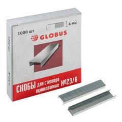 Скобы для степлера №23/6 Globus оцинкованные (1000 штук в упаковке)