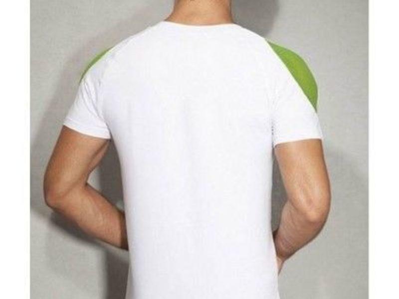 Мужская футболка белая с зеленым принтом Doreanse 2575