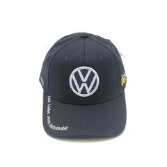 Кепка с вышитым логотипом Фольксваген (Бейсболка Volkswagen) темно-синяя