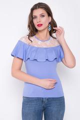 <p>Очень нежная блузка в потрясающей палитре цветов. Оцените, как изящно смотрится кружево.</p>