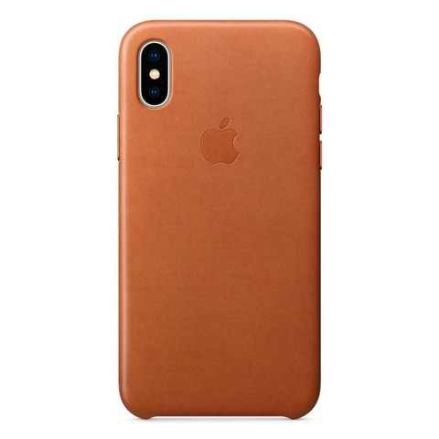 Чехол iPhone XR Leather Case /saddle brown/