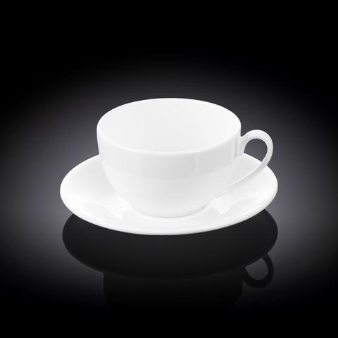 Чашка чайная + блюдце 250 мл Wilmax (WL-993000/AB)