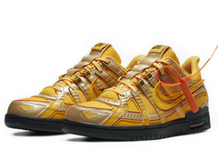 Off-White x Nike Air Rubber Dunk 'University Gold'