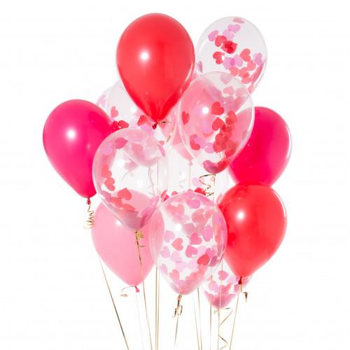 """Композиции Композиция из воздушных шаров с конфетти """"Коралл"""" каралл.jpg"""