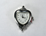 Основа для часов, металлическая, 33x23 мм, посеребренная, 1 шт.