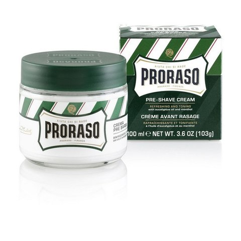 Крем До бритья PRORASO GREEN PRE-SHAVE CREAM 100 ml