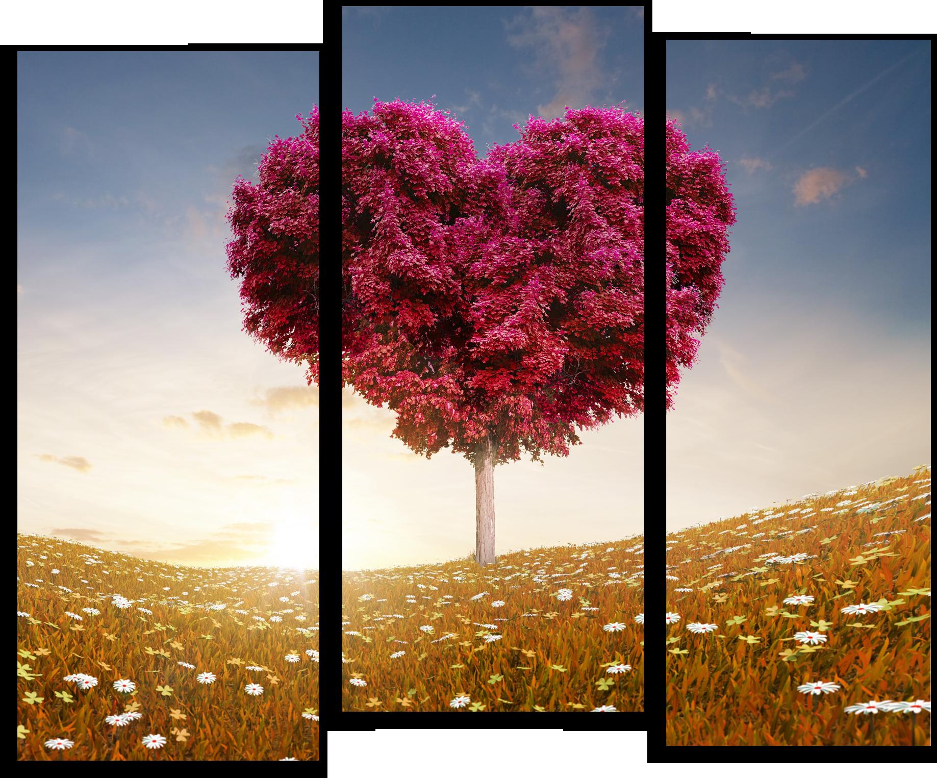 """Природа Модульные картина """"Цветение сердце"""" М748.png"""