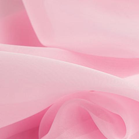 Вуаль для штор однотонная розовая оптом. Высота - 280 см., 300 см. Арт. -9