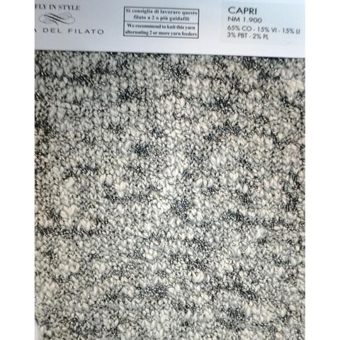Хлопок с вискозой CASA DEL FILATO / CAPRI 150 бирюзово-белый с серебром