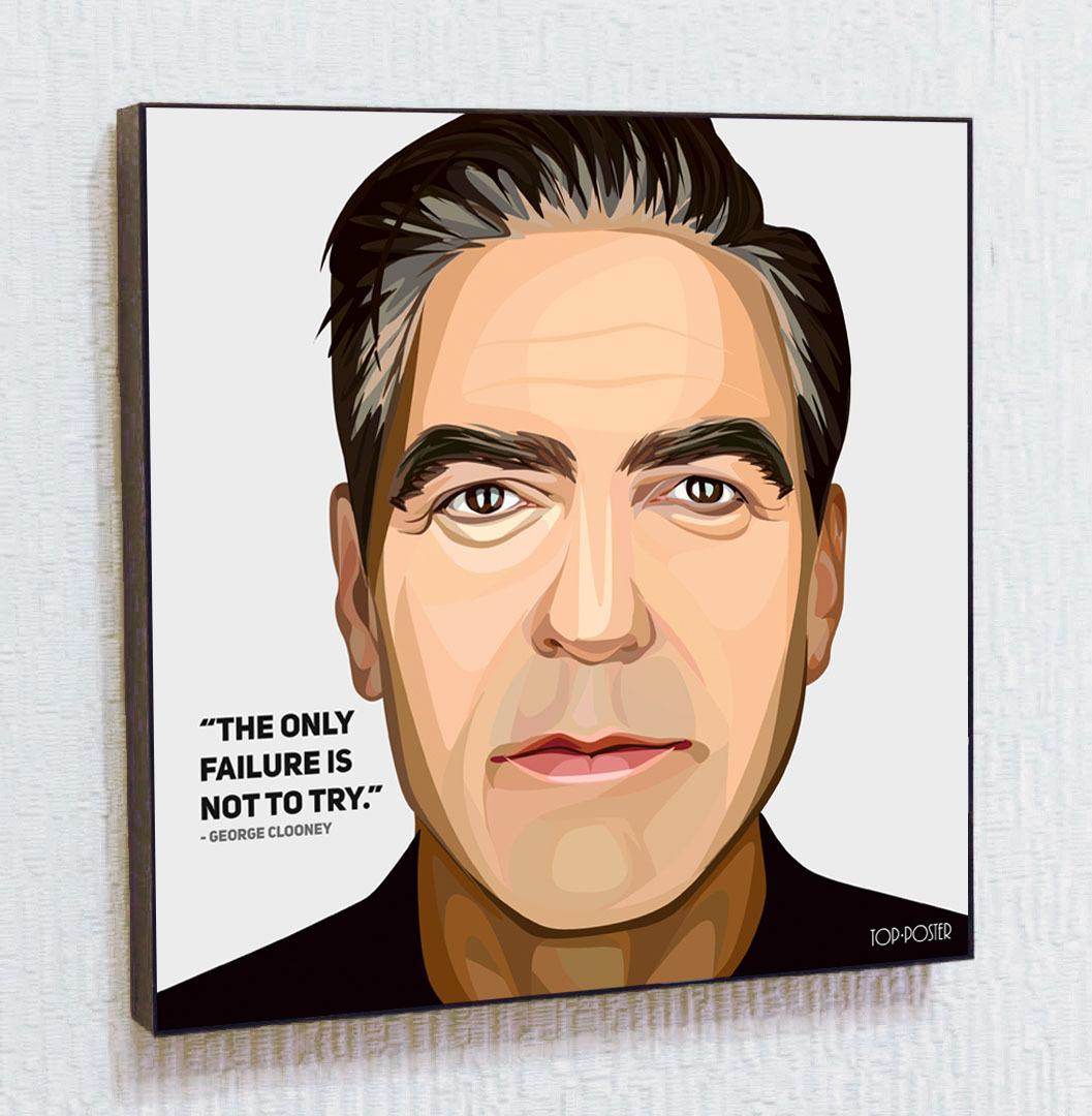 Джордж Клуни картина ПОП АРТ актер