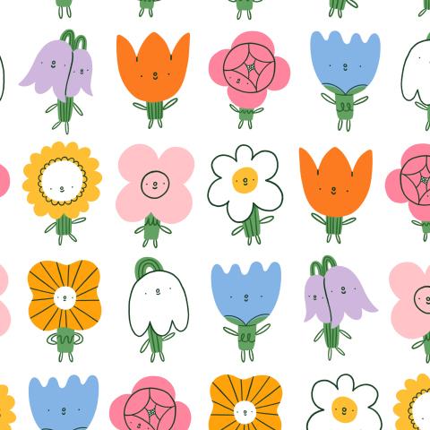 Весёлые цветики