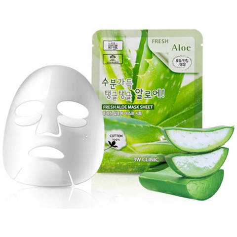 3W CLINIC Fresh  Aloe Mask Sheet Тканевая маска для лица с  алоэ