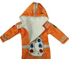 Папитто. Утепленный комбинезон и пинетки Космонавт, оранжевый вид 3