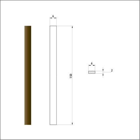 Брусок шлифовальный алмазный 60/40. Размер 6х150 мм