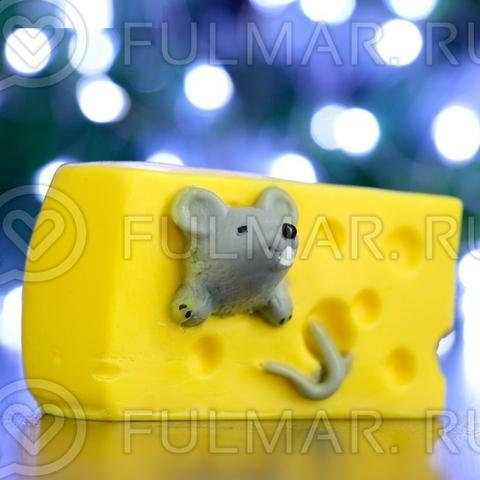 Подарочное мыло Кусок сыра и символ 2020 года Крыска, 140 г