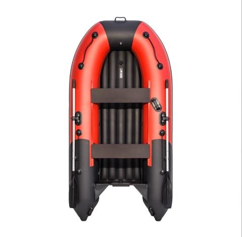 Лодка ПВХ Ривьера Компакт 3200 НДНД красно/черный