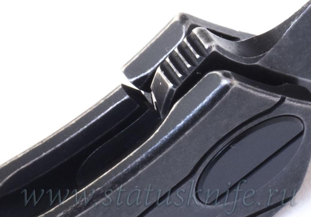 Нож Ратата BLK #41 CKF (Коныгин, М390, титан, подшипники) - фотография