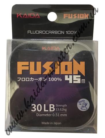 Леска флюорокарбоновая KAIDA FUSION прозрачная 45м