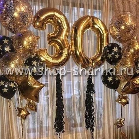 украшение шарами на 30 лет