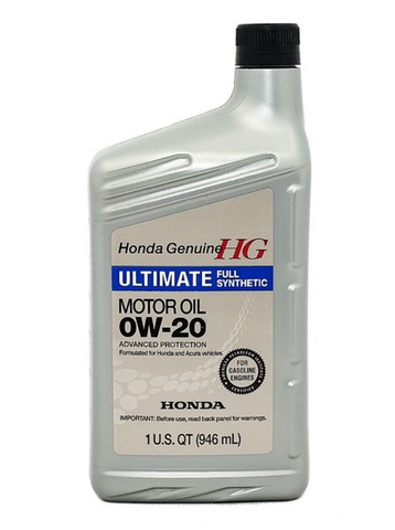 HONDA HG Ultimate 0W20 SN Масло моторное синт. SN, GF-5 (пластик/США)