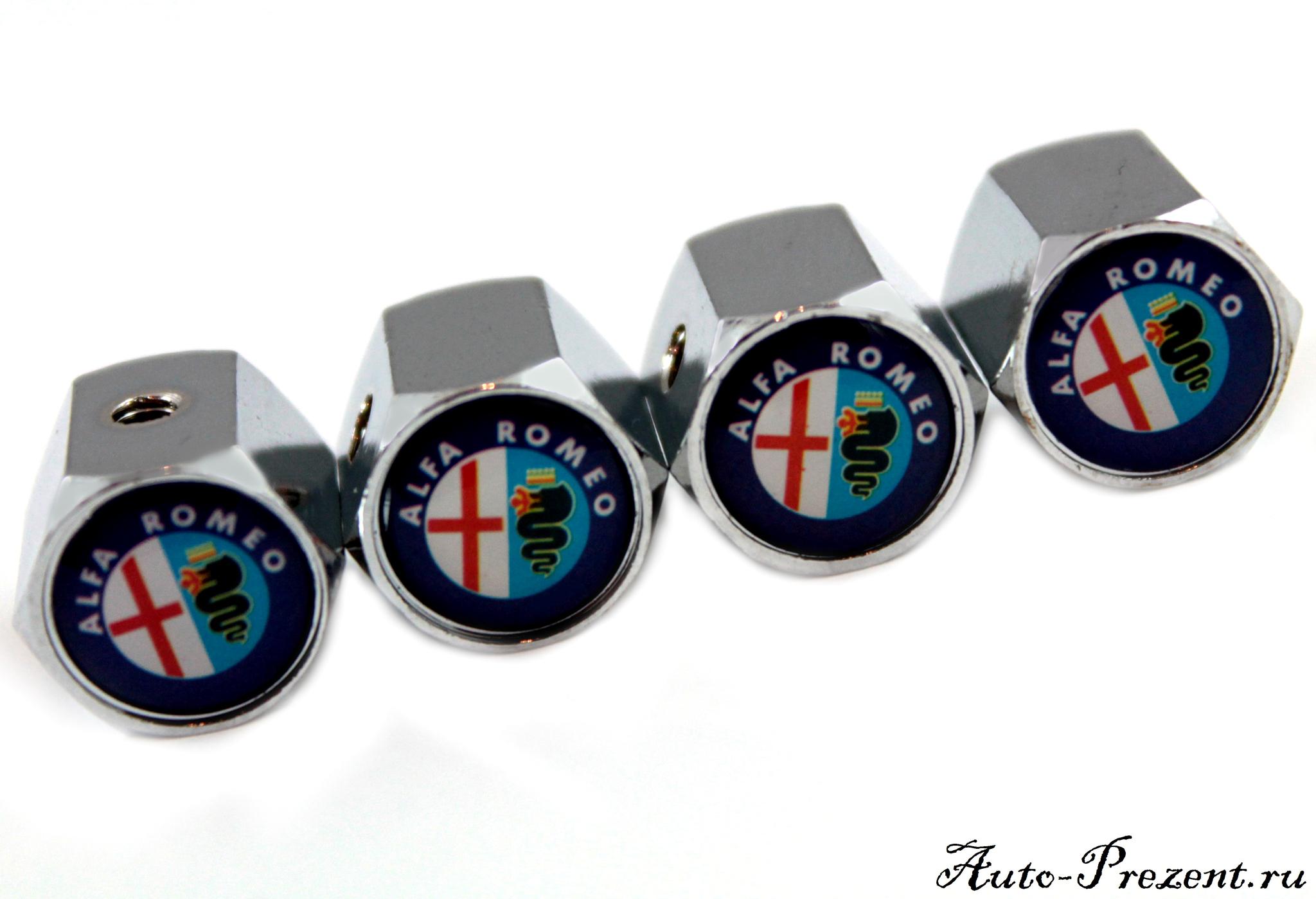 Колпачки на ниппель ALFA ROMEO с защитой от кражи