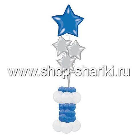 shop-shariki.ru фонтан из шаров со звездами Праздничный