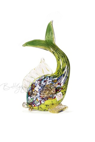 Зеленая Рыбка из муранского стекла  (по предзаказу)