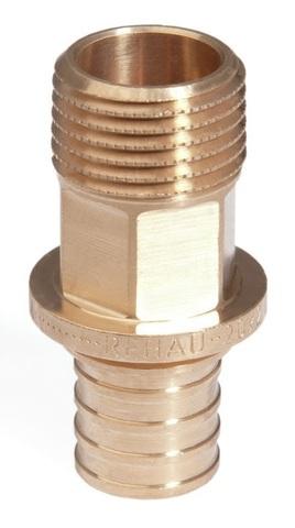 Переходник Rehau 16-R 3/4 RX с НР наружной резьбой (арт. 13660501001)