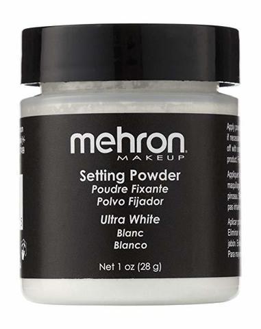 MEHRON Финишная пудра-закрепитель UltraFine Setting Powder, Ultra White (Ультра белый), 16 г