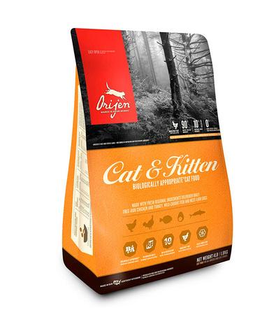 Orijen Cat & Kitten 85/15 корм беззерновой для кошек Цыпленок 340 г