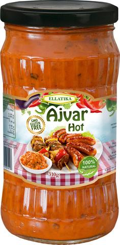 Болгарская закуска  Айвар острый перец и баклажаны Ellatika 310 гр