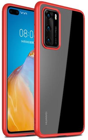Тонкий и легкий чехол для Huawei P40 от Caseport, серия Ultra Hybrid, красные рамки