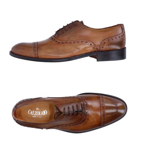 Коричневые кожаные cap-toe ботинки оксфорд Il Calzolaio Made in Italy