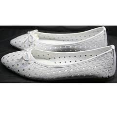 Белые женские балетки Vasari Gloria 19Y38860-37 White.