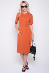 <p>Трикотажное платье модного кроя - неотъемлемая часть гардероба каждой девушки. Отрезное по талии, с декоративным элементом.(Длины: 46-104см; 48-105см; 50-106см; 52-107см)&nbsp;</p>
