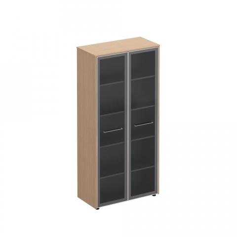 Шкаф для документов со стеклянными дверьми (94x46x196)