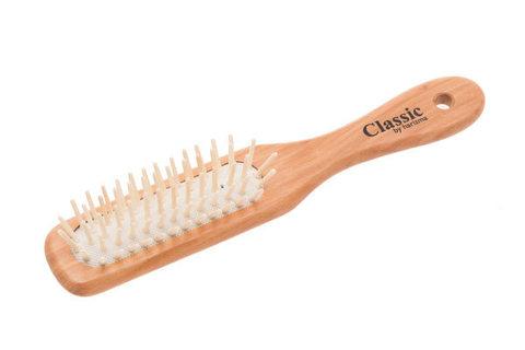 Щетка для волос массажная Harizma деревянная, квадратная