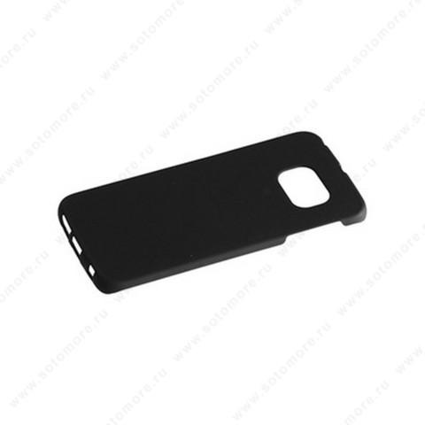 Накладка софт тач для Samsung S6 Edge 6925 черная