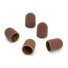 ruNail, Колпачок абразивный, 7*13 мм, 80 грит (5 шт.)