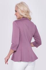 """<p>Женственная блуза приталенного силуэта, по бедрам баска. Рукав 3/4, ворот """"стойка"""", по спинке замок. Отличный вариант для модниц!</p>"""