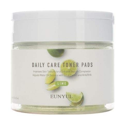 Отшелушивающие подушечки с экстрактом лайма Eunyul Daily Care Lime Toner Pads 70шт