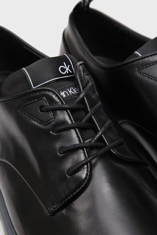 Мужские черные кожаные дерби PASILEY Calvin Klein