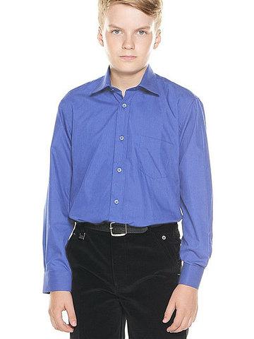 66-14 рубашка для мальчиков, синяя