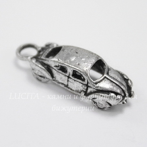 "Подвеска ""Машина"" (цвет - античное серебро) 22х7х5 мм"