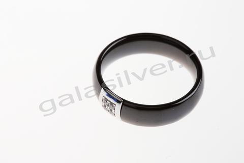 Кольцо с керамикой из серебра 925
