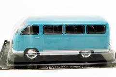 RAF-977DM Latvia blue-green 1:43 DeAgostini Auto Legends USSR #47