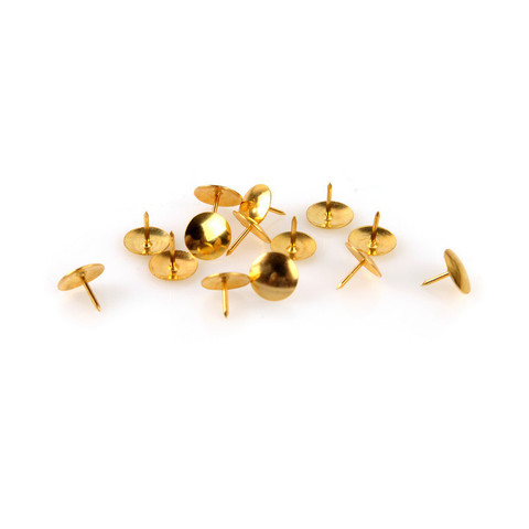 Кнопки канцелярские Attache металлические золотистые (100 штук в упаковке)